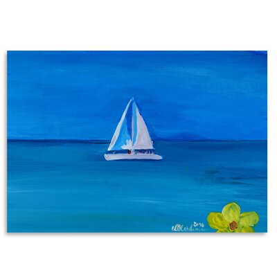 Americanflat 'Set Sail on a Boat in the Caribbean I' by Markus Bleichner Art Print