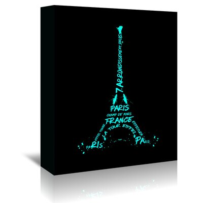 Americanflat 'Eiffel Tower' by Melanie Viola Graphic Art Wrapped on Canvas