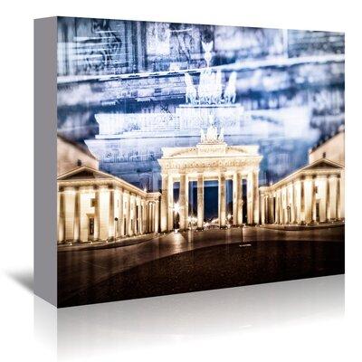 Americanflat 'Berlin Brandenburg Gate in Detail' by Melanie Viola Graphic Art Wrapped on Canvas