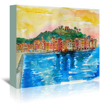 Americanflat 'Picturesque Portofino Ligure Italy 2' by Markus Bleichner Art Print Wrapped on Canvas