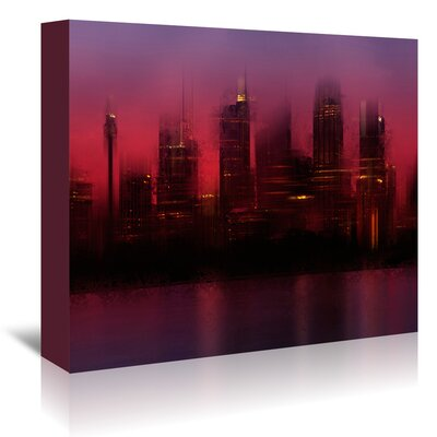 Americanflat 'City Sydney Skyline at Sunset' by Melanie Viola Graphic Art Wrapped on Canvas