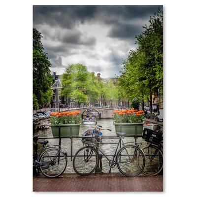 Americanflat 'Amsterdam Gentlemencanal Bicycles' by Melanie Viola Photographic Print