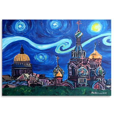 Americanflat 'Starry Night in St Petersburg Russia' by Markus Bleichner Art Print