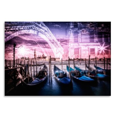 Americanflat 'City Venice Gondola and Rialto Bridge' by Melanie Viola Graphic Art