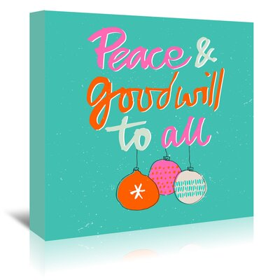 Americanflat 'Peace' by Emma McGowan Typography Wrapped on Canvas