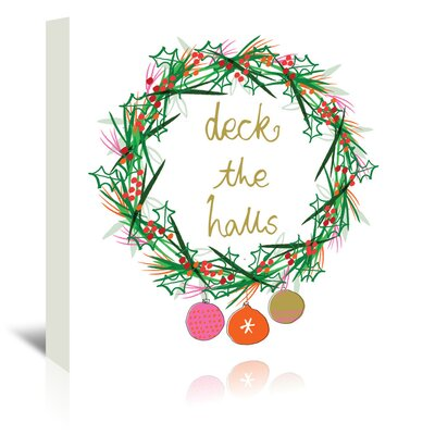 Americanflat 'Deck The Halls' by Emma McGowan Graphic Art Wrapped on Canvas