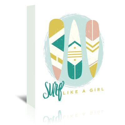Americanflat 'Like A Girl 1' by Beth Schneider Graphic Art Wrapped on Canvas
