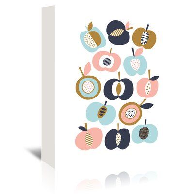 Americanflat 'Pommes' by Jocelyn Proust Graphic Art Wrapped on Canvas