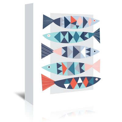 Americanflat 'Geo Fish' by Jocelyn Proust Graphic Art Wrapped on Canvas