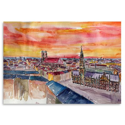 Americanflat 'Munich City Center View from St Peter' by Markus Bleichner Art Print