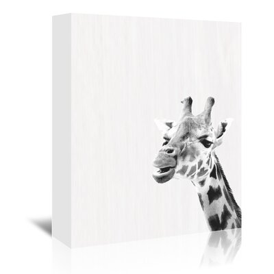 Americanflat 'Water Giraffe' by Ikonolexi Photographic Print Wrapped on Canvas