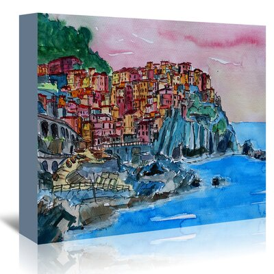 Americanflat 'Manarola Cinque Terre Dream' by Markus Bleichner Art Print Wrapped on Canvas