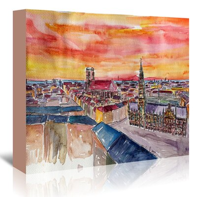 Americanflat 'Munich City Center View from St Peter' by Markus Bleichner Art Print Wrapped on Canvas