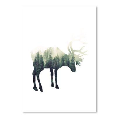 Americanflat 'Deer' by Ikonolexi Graphic Art