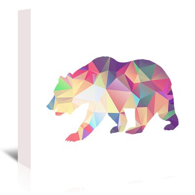 Americanflat 'Bear Poly' by Ikonolexi Graphic Art Wrapped on Canvas