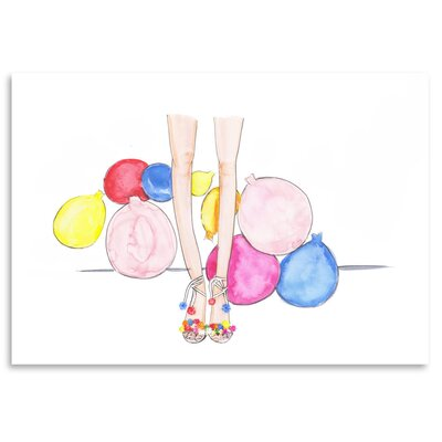 Americanflat 'Pom Poms and Balloons' by Alison B Art Print