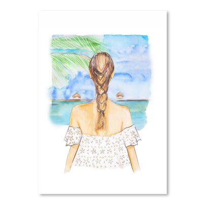 Americanflat 'Vacation View' by Alison B Art Print