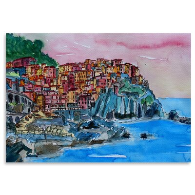Americanflat 'Manarola Cinque Terre Dream' by Markus Bleichner Art Print