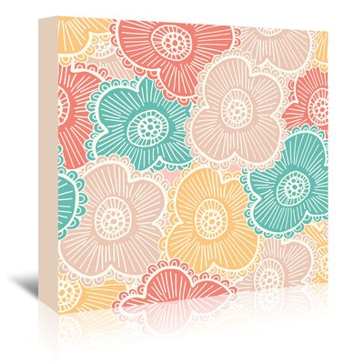 Americanflat 'Springtime Floral' by Beth Schneider Graphic Art Wrapped on Canvas