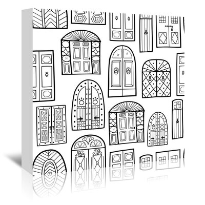 Americanflat 'Dublin Doors 1' by Beth Schneider Graphic Art Wrapped on Canvas