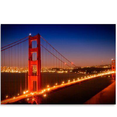 Americanflat 'Evening Cityscape of Golden Gate Bridge' by Melanie Viola Photographic Print