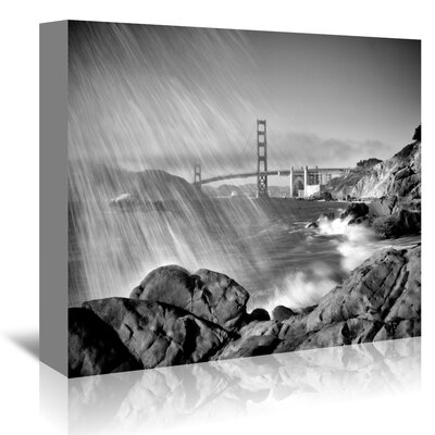 Americanflat 'San Francisco Baker Beach Monochrome' by Melanie Viola Photographic Print Wrapped on Canvas