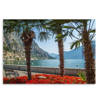 Americanflat 'Lake Garda Limone Sul Garda Lakeside' by Melanie Viola Photographic Print