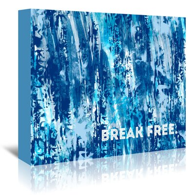 Americanflat 'Emotional Break Free' by Melanie Viola Graphic Art Wrapped on Canvas