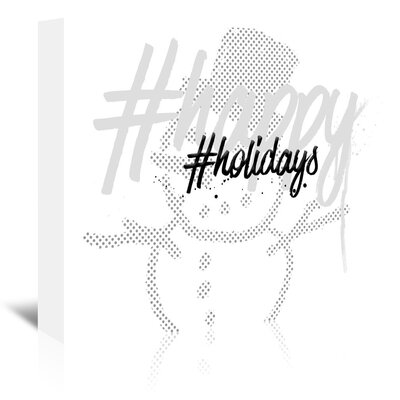 Americanflat 'Happy Holidays' by Melanie Viola Typography Wrapped on Canvas