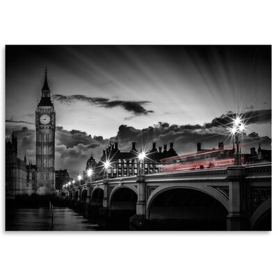 Americanflat 'London Westminster Bridge with Bus at Sunset' by Melanie Viola Photographic Print