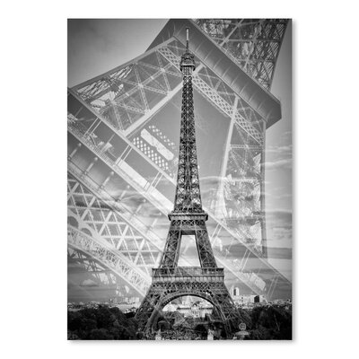 Americanflat 'Eiffel Tower Double Exposure II Monochrome' by Melanie Viola Graphic Art