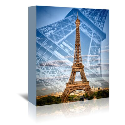 Americanflat 'Eiffel Tower Double Exposure II' by Melanie Viola Graphic Art Wrapped on Canvas