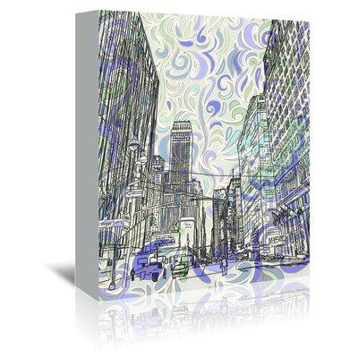 Americanflat '16B15 Nyc Blend' by Marian Nixon Graphic Art Wrapped on Canvas