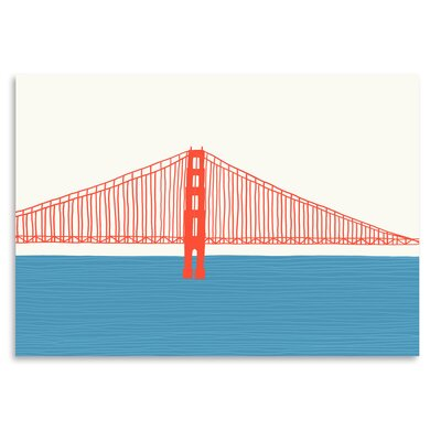Americanflat 'Gg Bridge 3' by Jorey Hurley Graphic Art