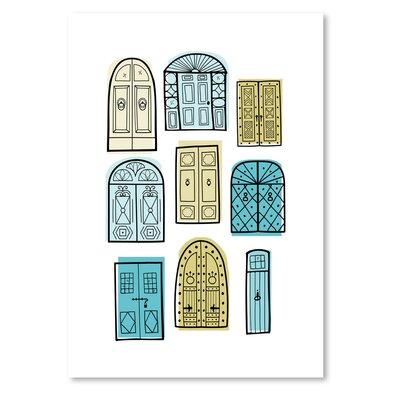 Americanflat 'Dublin Doors' 2 by Beth Schneider Graphic Art