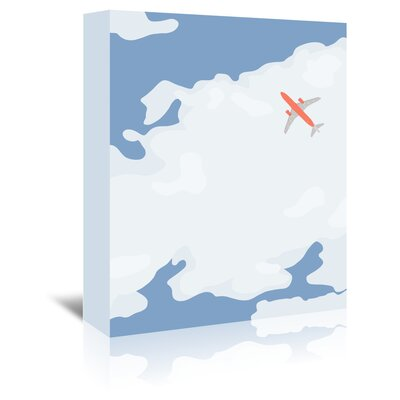 Americanflat 'Sky with Plane' by Jorey Hurley Graphic Art Wrapped on Canvas