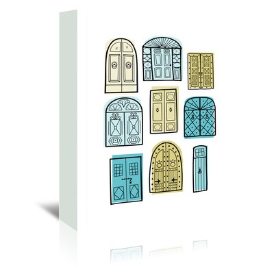 Americanflat 'Dublin Doors 2' by Beth Schneider Graphic Art Wrapped on Canvas