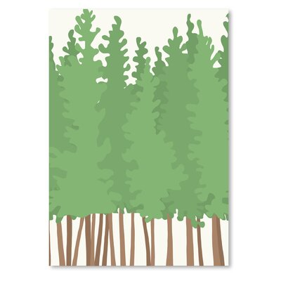 Americanflat 'Bigtrees' by Jorey Hurley Graphic Art