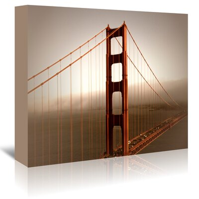Americanflat 'Vintage Style Golden Gate Bridge and Fog' by Melanie Viola Photographic Print Wrapped on Canvas
