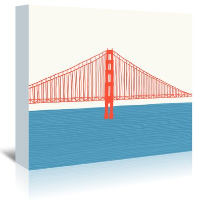Americanflat 'Gg Bridge 3' by Jorey Hurley Graphic Art Wrapped on Canvas