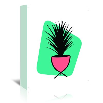 Americanflat 'Modern Botanicals Grass Plant' by Ashlee Rae Graphic Art Wrapped on Canvas