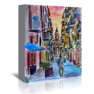 Americanflat 'Fascinating Palermo Sicily Italy Street Scene' by Markus Bleichner Art Print Wrapped on Canvas