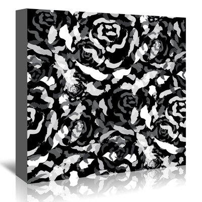 Americanflat 'Black Rose Bouquet' by Kevin Brackley Graphic Art Wrapped on Canvas