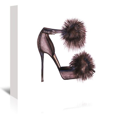 Americanflat 'PomPom Heels' by Alison B Graphic Art Wrapped on Canvas