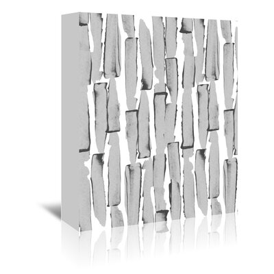 Americanflat 'Edgy Daisy Stalks Grey' by Chris Purcell Graphic Art Wrapped on Canvas