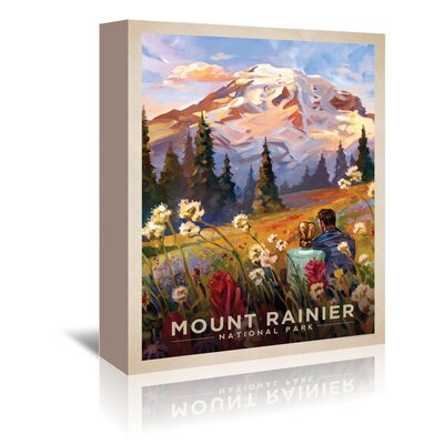 Americanflat 'Mount Rainier' by Anderson Design Group Vintage Advertisement Wrapped on Canvas