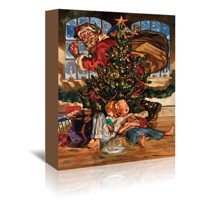 Americanflat 'Waiting for Santa' by Anderson Design Group Graphic Art Wrapped on Canvas