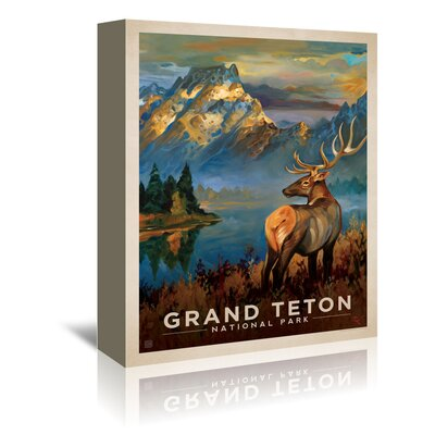 Americanflat 'Grand Teton' by Anderson Design Group Vintage Advertisement Wrapped on Canvas