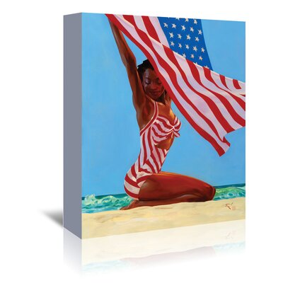 Americanflat 'America the Beautiful' by Anderson Design Group Graphic Art Wrapped on Canvas