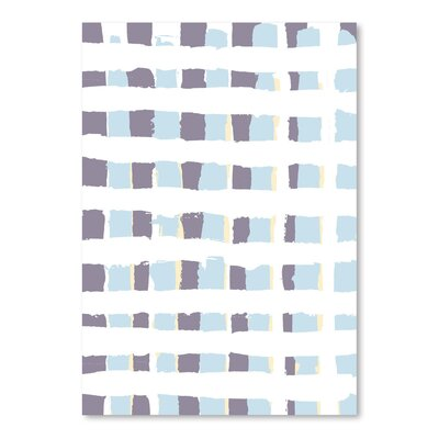 Americanflat 'Posey Plaid Lavender' by Chris Purcell Graphic Art